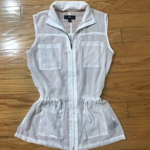 Mossimo Sheer White Vest